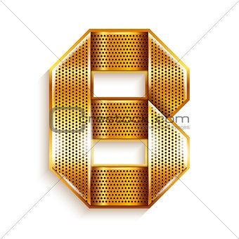 Letter metal gold ribbon - B