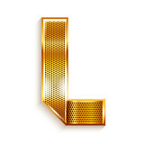 Letter metal gold ribbon - L
