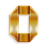 Letter metal gold ribbon - O