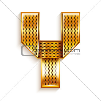 Letter metal gold ribbon - Y