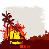 Tropical design grunge poster