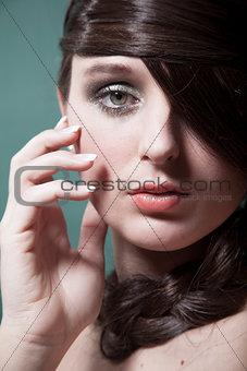close up shot of a beautiful woman