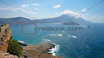 Gramvousa island. Panorama.
