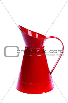 red metal pitcher