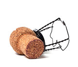 Champagne wine cork with muselet