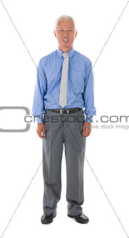 asian senior business man , isolated on white
