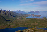 View from hilltop in Norway