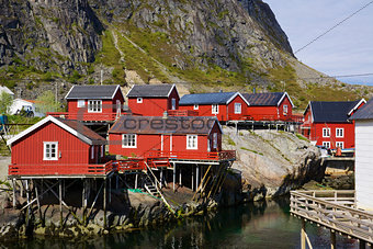 Scenic fishing huts