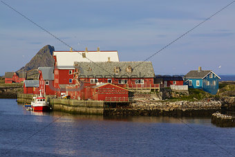 Nordic fishing harbor
