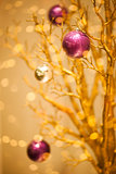 Golden Merry Christmas Winter Background - Xmas Design