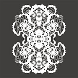 Lace vector decorative ornament.