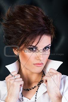 Artistic make up on caucasian beautiful model
