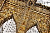 Brooklyn bridge detail, New York, USA