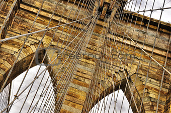 Brooklyn bridge detail, New York, USA