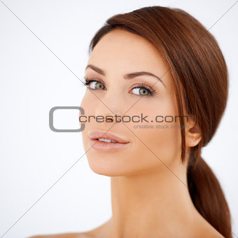 Beauty portrait of a natural woman