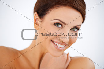 Charming smiling beautiful woman