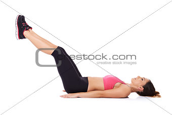 Woman doing leg lifts