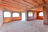New brick construction interior