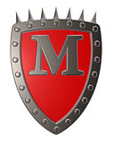 shield with letter m