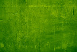Green color cement wall