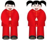 Chinese New Year Boy and Girl