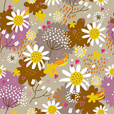Floral seamless pattern in vector..Seamless pattern can be used for wallpaper, pattern fills, web page background,surface textures.