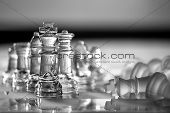 King Chess Pieces - Business Concept Series - strategy, competition, win, success.