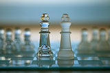Chess Kings as Business Concept - strategy, competition, merger, opposition.