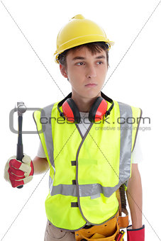 Apprentice builder construction worker