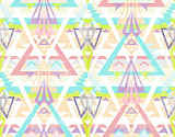 Abstract geometric seamless aztec pattern.
