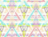 Abstract geometric seamless aztec pattern.