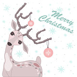 Christmas card with deer