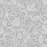 Abstract floral pattern. Seamless pattern with flowers