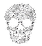 Skull from flowers.
