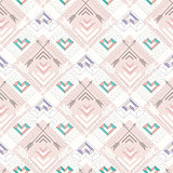 Abstract geometric aztec seamless pattern