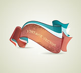 Set of retro ribbons. Vector illustration. 