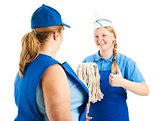 Teenage Worker Has Great Attitude