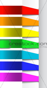 Abstract color banners template