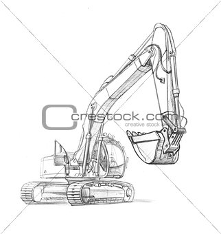 drawing excavator