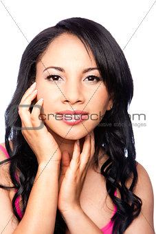 Beauty female face