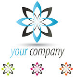 Modern Flower Logo