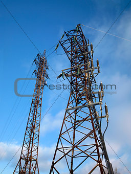 Electricity posts.