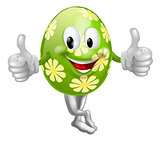 Thumbs Up Cartoon Easter Egg Man