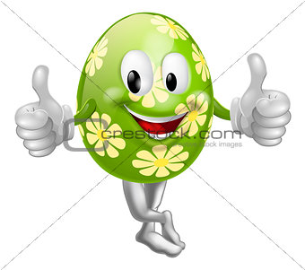 Thumbs Up Cartoon Easter Egg Man