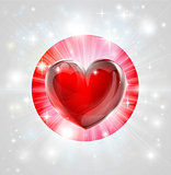 Love Japan flag heart background