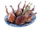 four quails baked