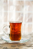 Tea in a Traditional Turkish Glass