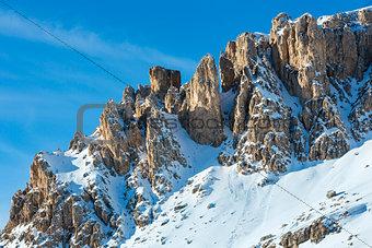 Beautiful winter mountain landscape.