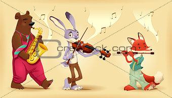 Musician animals.