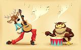Musicians animals.